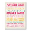 Stupell Industries The Kids Room Playroom Rules Typography Rectangle Wall Plaque