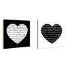 Stupell Industries lulusimonSTUDIO 2 Piece Hearts with  Love Quotes Typography Wall Art Set