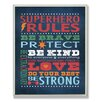 Stupell Industries The Kids Room Superhero Rules Wall Plaque