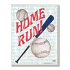 Stupell Industries The Kids Room Home Run Border Rectangle Wall Plaque