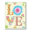 Stupell Industries The Kids Room Floral Love Rectangle Wall Plaque