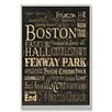 Stupell Industries Boston Typography Rectangle Wall Plaque