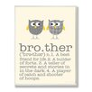 Stupell Industries Owl Brother Typography Graphic Art Plaque
