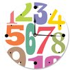 "Stupell Industries 12"" Numbers Typography Vanity Clock"