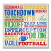 Stupell Industries Football Words Typography Textual Plaque