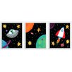 Stupell Industries Outer Space Triptych 3 Piece Graphic Art Set