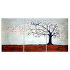 Stupell Industries Modern Painting Tree in Autumn Triptych 3 Piece Graphic Art