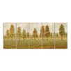 Stupell Industries Trees in a Park Painting 5 Piece Graphic Art on Wrapped Canvas Set