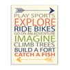 Stupell Industries Kid's To-Do List with Arrows Wall Plaque