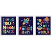 Stupell Industries 3 Piece I Love You to the Moon and Back Wall Plaque Set