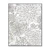 Stupell Industries DIY Coloring Wall Plaque Flower Garden Graphic Art