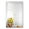 Stupell Industries Sunflowers Faux Window Mirror