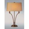 Lighting Enterprises Iron Table Lamp with Oval Hardback Shade