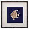 Mirror Image Home Leaf Left Facing Fish I Framed Graphic Art