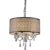 Warehouse of Tiffany Lush 3 Light Crystal Drum Chandelier
