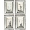 A&B Home Group, Inc 4 Piece Mirrored Art Wall Décor Set (Set of 4)