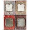 A&B Home Group, Inc Mulitcolored Wooden Wall Mirror (Set of 4)