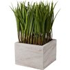 A&B Home Group, Inc Faux Grass in Ceramic Vase