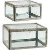 A&B Home Group, Inc 2-Piece Amelia Trinket Box Set
