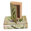 Winward Designs 2 Piece Book Box Bird Motif Set