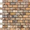 """Epoch Architectural Surfaces 1"""" x 2"""" Marble Mosaic Tile in Rain Forest Brown"""