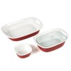 Corningware Etch 4 Piece Bakeware Set