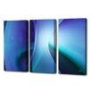Menaul Fine Art 'Sophie Blue Triptych' by Scott J. Menaul 3 Piece Graphic Art on Wrapped Canvas Set