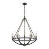 Elk Lighting Natural Rope 6 Light Mini Chandelier