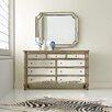 Hooker Furniture Melange Montage 9 Drawer Dresser with Mirror