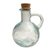 French Home Mediterranean Wave 14-ounce Ice Clear Oil & Vinegar Cruet (Set of 2)
