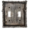 HiEnd Accents Birch Twig Double Switch Plate (Set of 4)