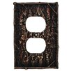 HiEnd Accents Pine Bark Single Outlet Cover (Set of 4)