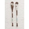 Creative Co-Op 2 Piece Wood Paddle Wall Décor Set (Set of 2)