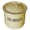 "Creative Co-Op ""Dog Biscuits"" Enamel Pet Treat Jar with Lid"