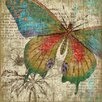 Vintage Signs Suzanne Nicoll Butterfly 1 Graphic Art Plaque
