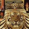 Dolce Mela Siberian Tiger 6 Piece Duvet Cover Set