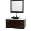 "Wyndham Collection Centra 48"" Single Bathroom Vanity Set with Mirror"