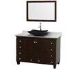 "Wyndham Collection Acclaim 48"" Single Bathroom Vanity Set with Mirror"