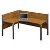 Bestar Pro-Biz Single Left L-Desk Workstation With 2 Melamine Privacy Panels