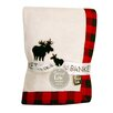 Trend Lab Northwood's Framed Fleece Receiving Blanket with Moose Applique