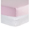 Trend Lab Chevron Print Flannel 2 Piece Crib Sheet Set