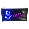 Creative Motion Coffee with Cup Sign
