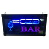 Creative Motion Bottle and Cup Bar Sign