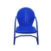 LB International Retro Metal Outdoor Tulip Chair