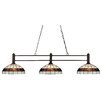 Z-Lite Challenger 3 Light Billiard Pendant