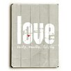 Artehouse LLC Love Truly, Madly, Deeply Wood Sign