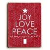 Artehouse LLC Joy Love Peace Wall Décor