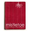 Artehouse LLC Mistletoe Red Wall Décor