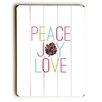 Artehouse LLC Peace Joy Love Pine Cone Wall Décor