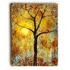 Artehouse LLC 'Red Birds Tree' by Blenda Tyvoll Painting Print